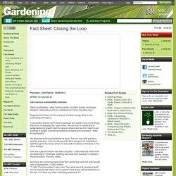 Gardening Australia - Fact Sheet: Closing the Loop