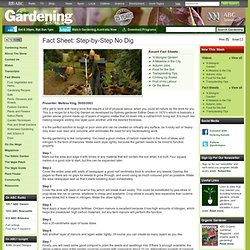 Gardening Australia - Fact Sheet: Step-by-Step No Dig