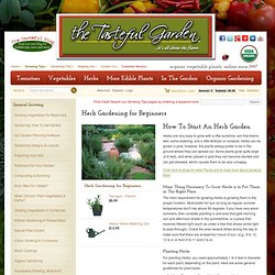 Herb Gardening for Beginners - The Tasteful Garden