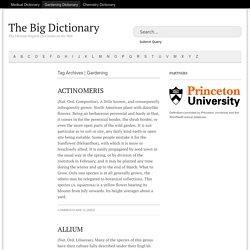 Gardening Dictionary