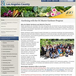 Los Angeles County - Common Ground Garden Program