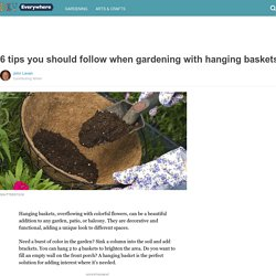 6 tips you should follow when gardening with hanging baskets