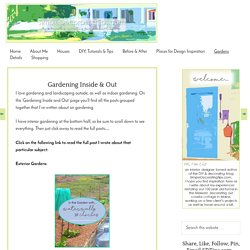 Gardening Inside and Out, HometoCottage