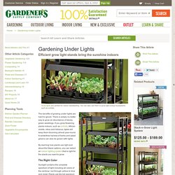 Gardening Under Lights, Grow Lights, Grow Light, Shop Lights: Gardener's Supply