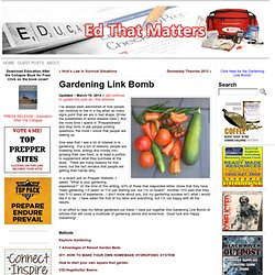 Gardening Link Bomb