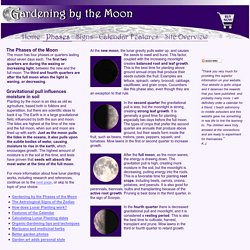 Gardening by the Phases of the Moon