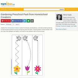 Gardening Preschool Pack from Homeschool Creations