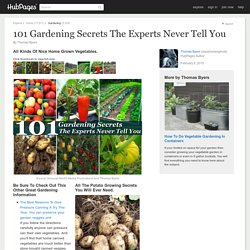 101 Gardening Secrets The Experts Never Tell You