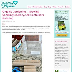 Organic Gardening… Growing Seedlings in Recycled Containers (tutorial)