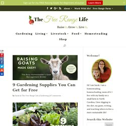 9 Gardening Supplies You Can Get for Free - The Free Range Life