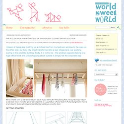 The Pulley Rack: Indoor Clothes Drying