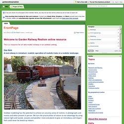 gardenrailwayrealism / FrontPage