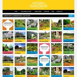 Gardens open in Aberdeenshire