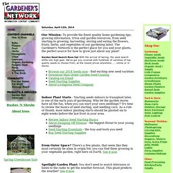 How to grow great gardens, home backyard gardening plants, seed catalog