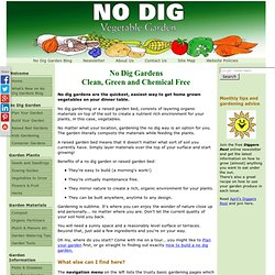 No dig gardens - how to do no dig gardening by gardening the no dig way!