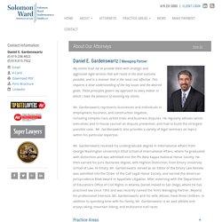 Daniel E. Gardenswartz - Solomon Ward Managing Partner
