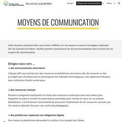 lien.cssmi.qc.ca/garderlelien - Moyens de communication