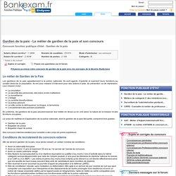 Gardien de la paix - Le métier de gardien de la paix et son concours - Bankexam.fr
