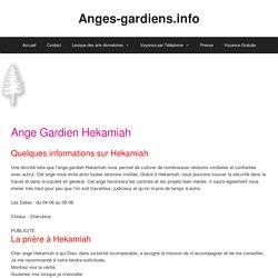 Ange Gardien Hekamiah - Anges-gardiens.info