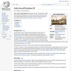 John Lowell Gardner II