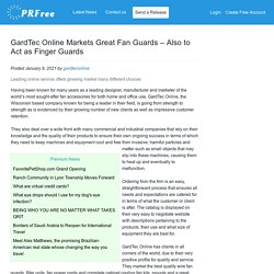 GardTec Online Markets Great Fan Guards – Also to Act as Finger Guards