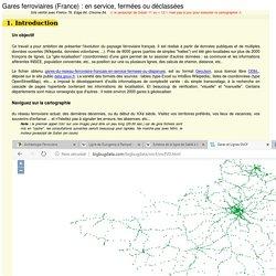 Gares et Lignes SNCF (et plus)