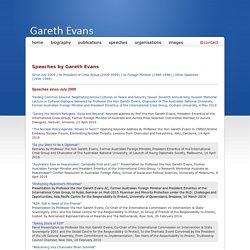 Gareth Evans - Speeches