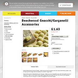 Beechwood Gnocchi/Garganelli Accessories / Falcon Products Ltd / Non Stick Cooking and Oven Liners
