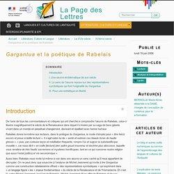 Gargantua et la poétique de Rabelais