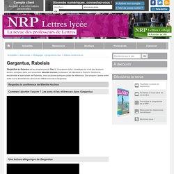 Gargantua de Rabelais - NRP Lycée