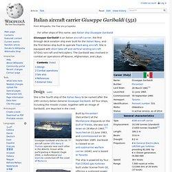 Italian aircraft carrier Giuseppe Garibaldi (551)