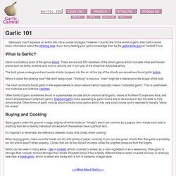 Garlic 101 - A Garlic Primer