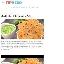 Garlic Basil Parmesan Crisps