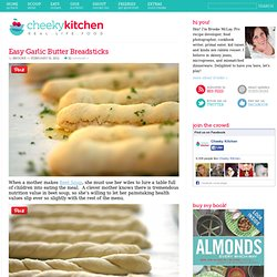 Cheeky Kitchen » Easy Garlic Butter Breadsticks