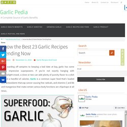 Trending Garlic Recipes
