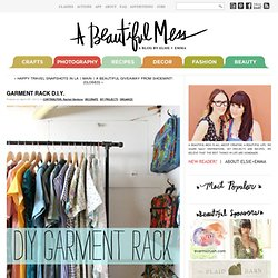 Garment Rack D.I.Y. - A Beautiful Mess