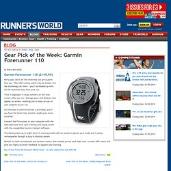 Gear Pick of the Week: Garmin Forerunner 110 - Gear