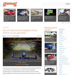 Garmin Varia bike headlight shines farther as you go faster