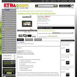 Garmin ZUMO 660 Bike Navigator - RYDA GPS Navigation($842.85)