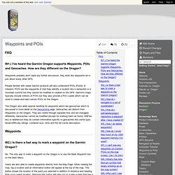 Garmin Oregon Wiki - Waypoints and POIs
