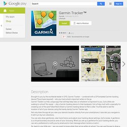 Garmin Tracker - Aplicativos para Android no Google Play
