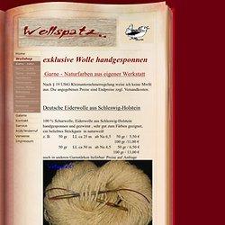 Garne - natur - Wollspatz Wolle handgesponnen