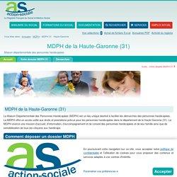 MDPH de la Haute-Garonne (31) : Accueil des personnes handicapées.