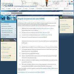 Web Site - Regole d'accesso alla rete GARR