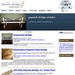Model Bridge Design - » popsicle bridge