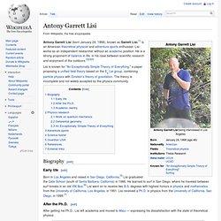 Antony Garrett Lisi