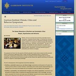 Garrison Institute Climate, Cities and Behavior Symposium