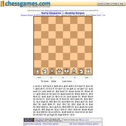 Keres defense: Kasparov vs Karpov 1990