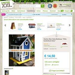 """Garten Star Holz-Nisthaus """"Villa kunterbunt blau"""""""