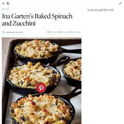 Ina Garten's Baked Spinach and Zucchini Recipe